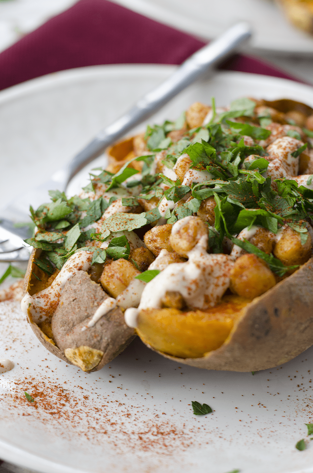 vegan stuffed sweet potato