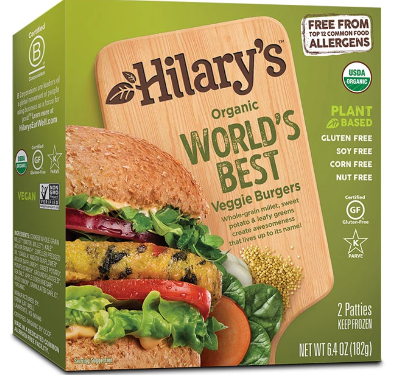 Hilary's world's best veggie burgers