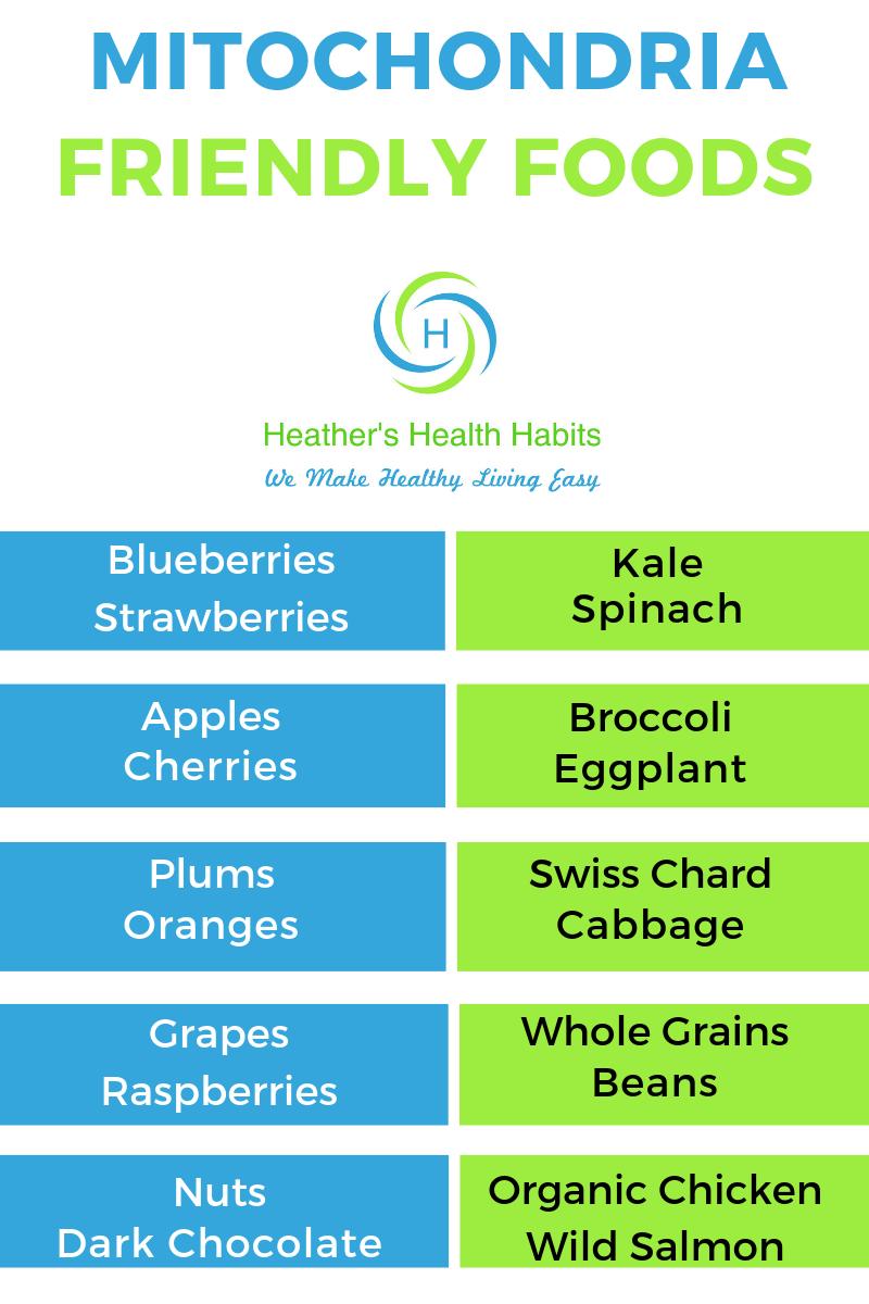 Mitochondria friendly foods