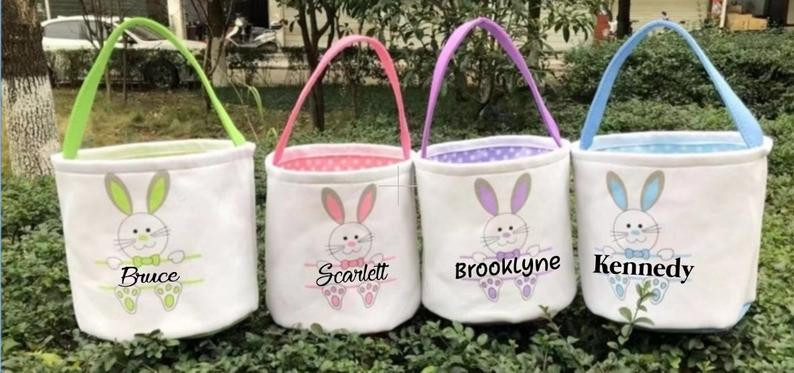 personalized easter baskets with your name on them
