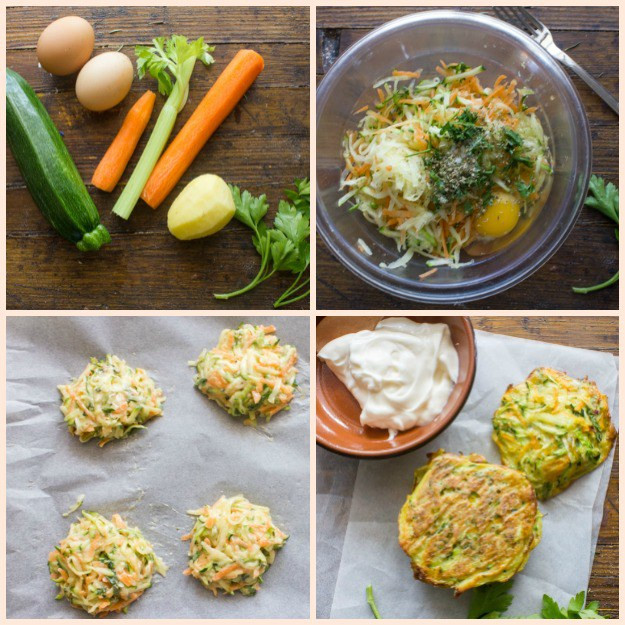four steps to making a veggie burger