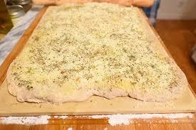 focaccia bread with CBD oil and garlic