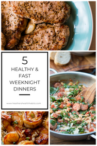 recipes for healthy and fast weeknight dinners