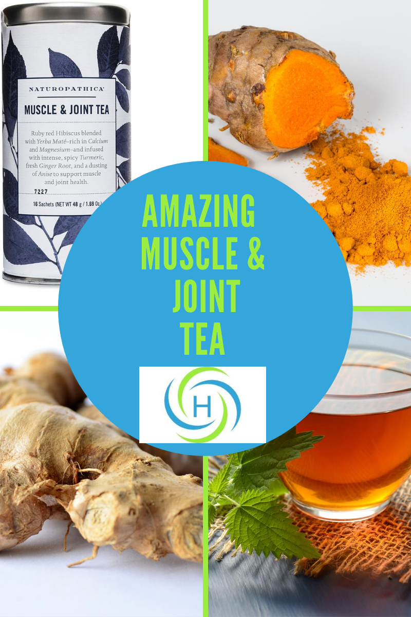 muscle and joint tea from naturopathica contains turmeric and ginger