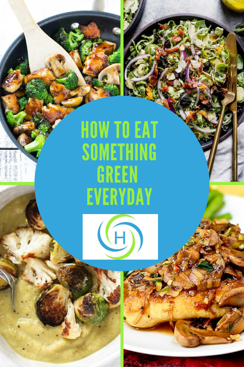how to eat something green every day for good gut health