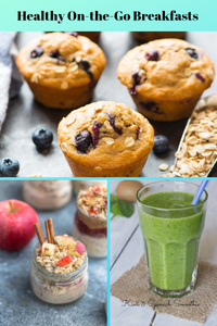 breakfast ideas muffins overnight oatmeal and smoothie