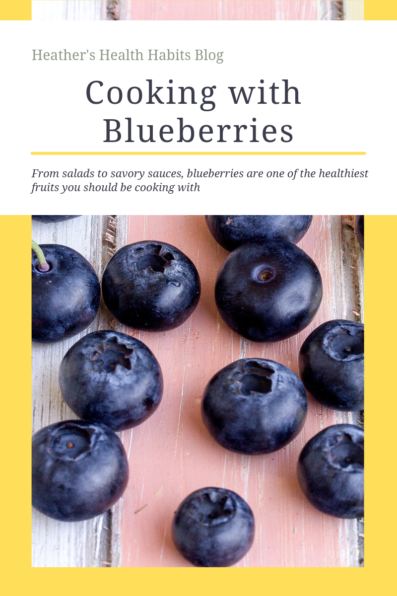 cooking with blueberries