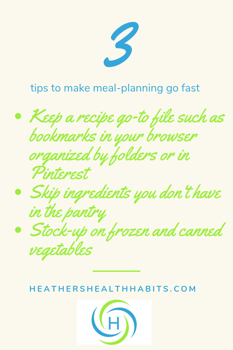 3 tips to make meal-planning go fast