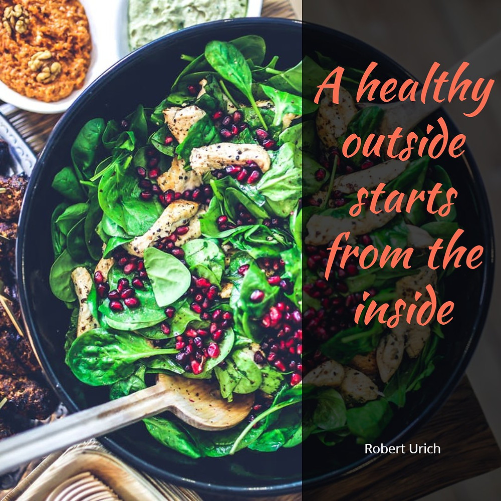 quote a healthy outside starts from the inside