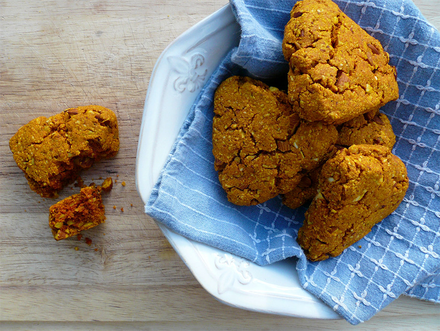turmeric scones on a plate are great for helping to keep the immune system healthy