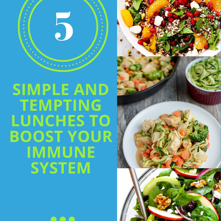 Simple And Tempting Lunches To Boost Your Immune System