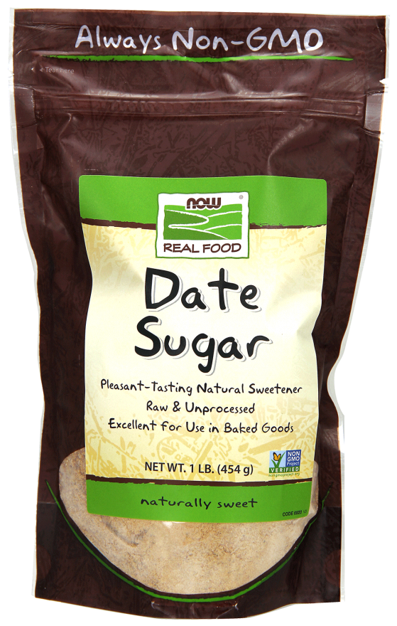 Now brand Date Sugar is a healthy alternative and excellent for use in baked goods