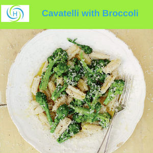 cavatelli with broccoli makes a hearty and quick dinner