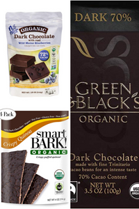 organic dark chocolate product images
