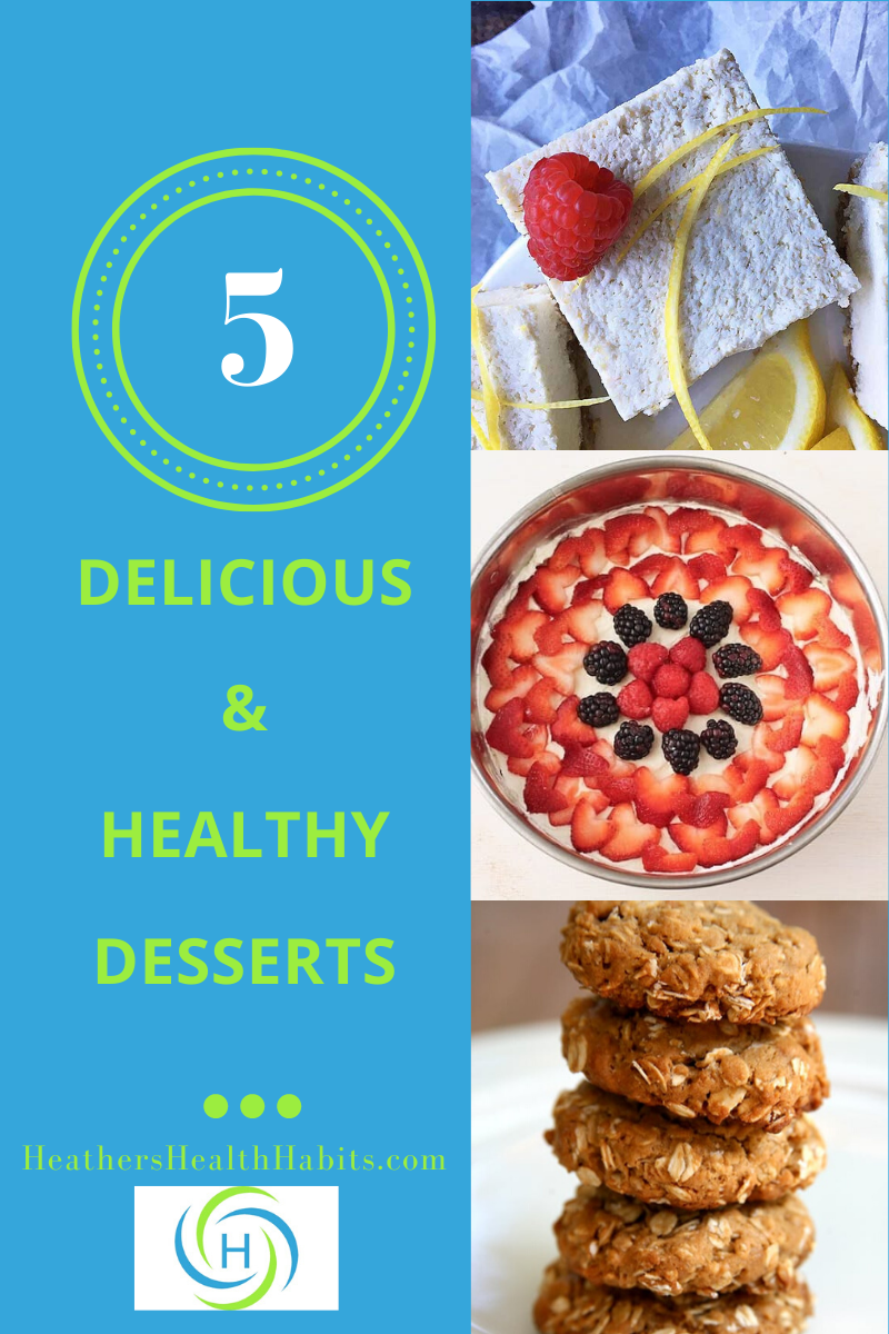 5 delicious and healthy desserts including fruit tart, vegan lemon bars and peanut butter cookies