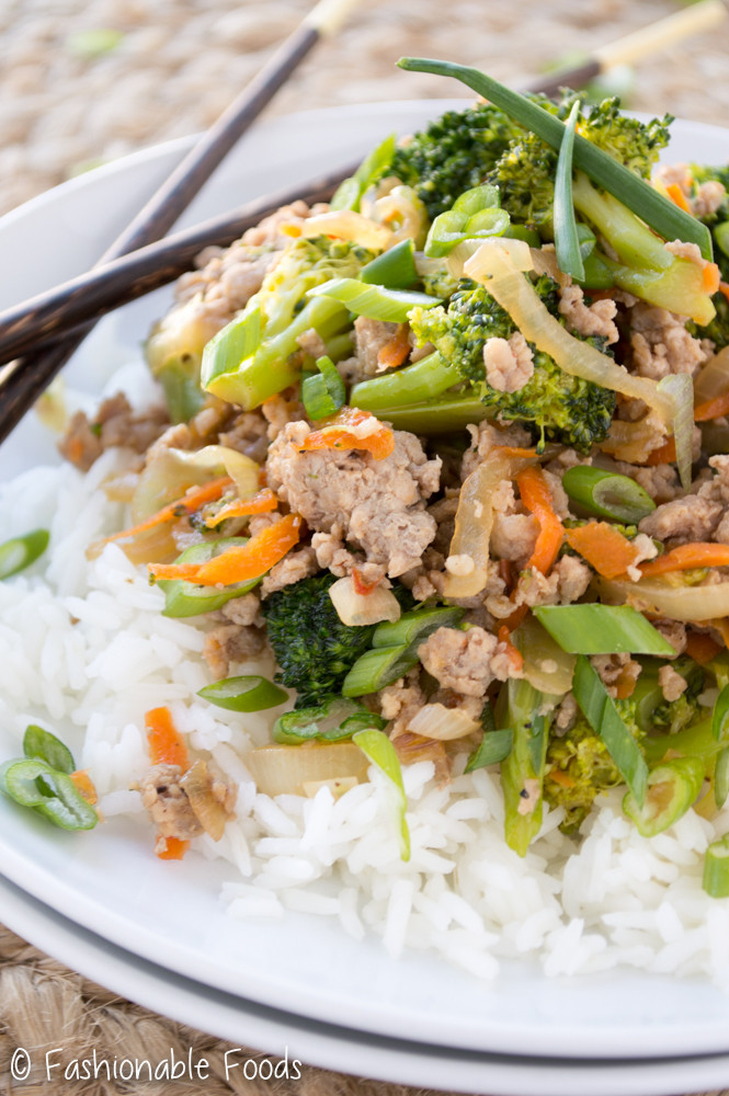 ground turkey makes a great addition to any vegetable stir fry