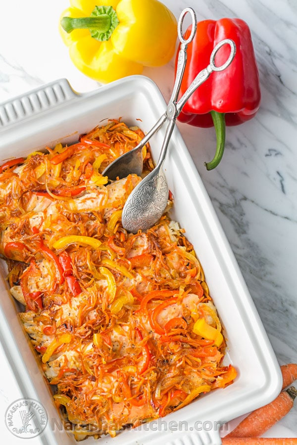 Tilapia vegetable casserole can use green beans instead of onions if they bother your stomach