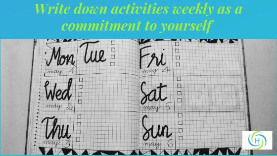 calendar to plan exercise weekly