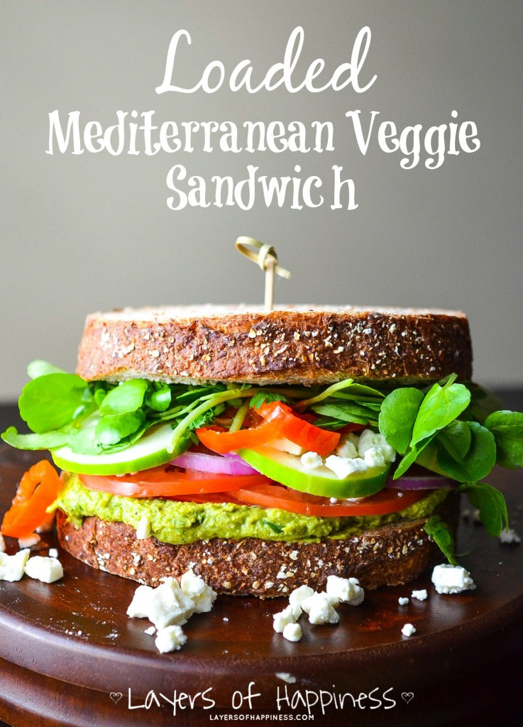 veggie sandwich delivers lots of fiber for a gut friendly lunch