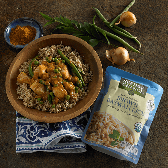 seeds of change sells USDA organic grains and rice that are ready in 90 seconds