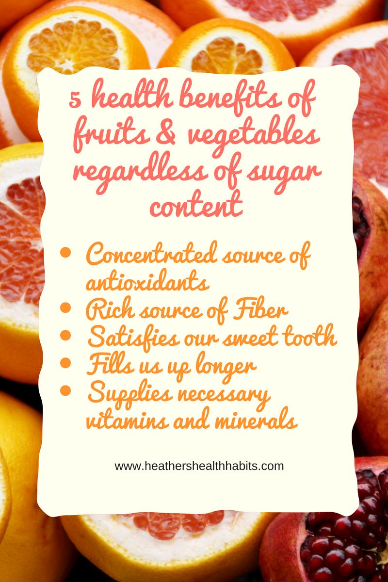 fruits vegetables sugar