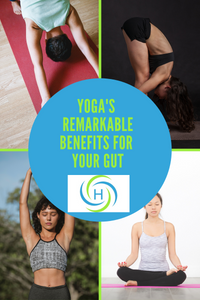 yoga helps promote a healthy gut by supporting the digestive system, the immune system, the nervous system and making us happy