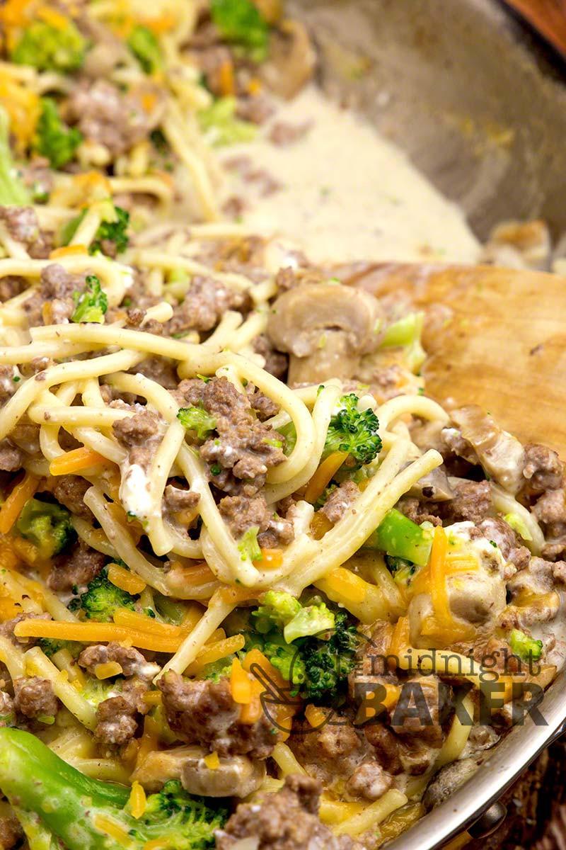 one skillet ground beef casserole for dinner