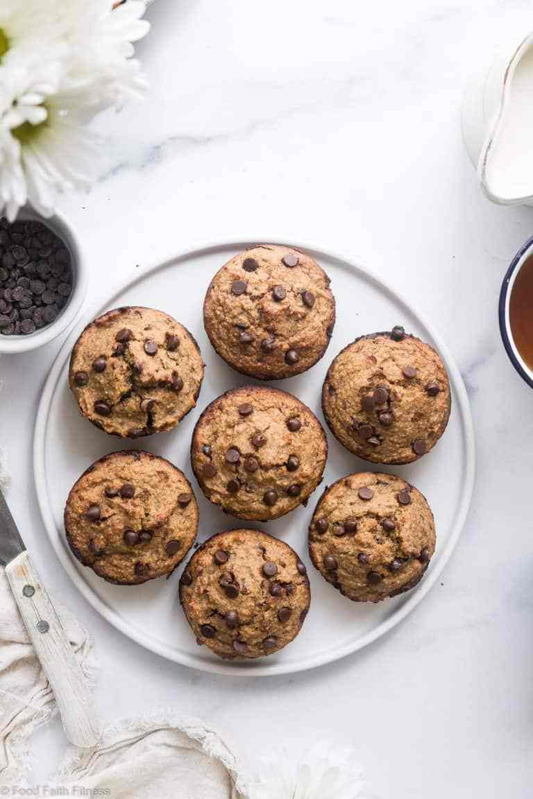gluten free zucchini muffins with chocolate chips
