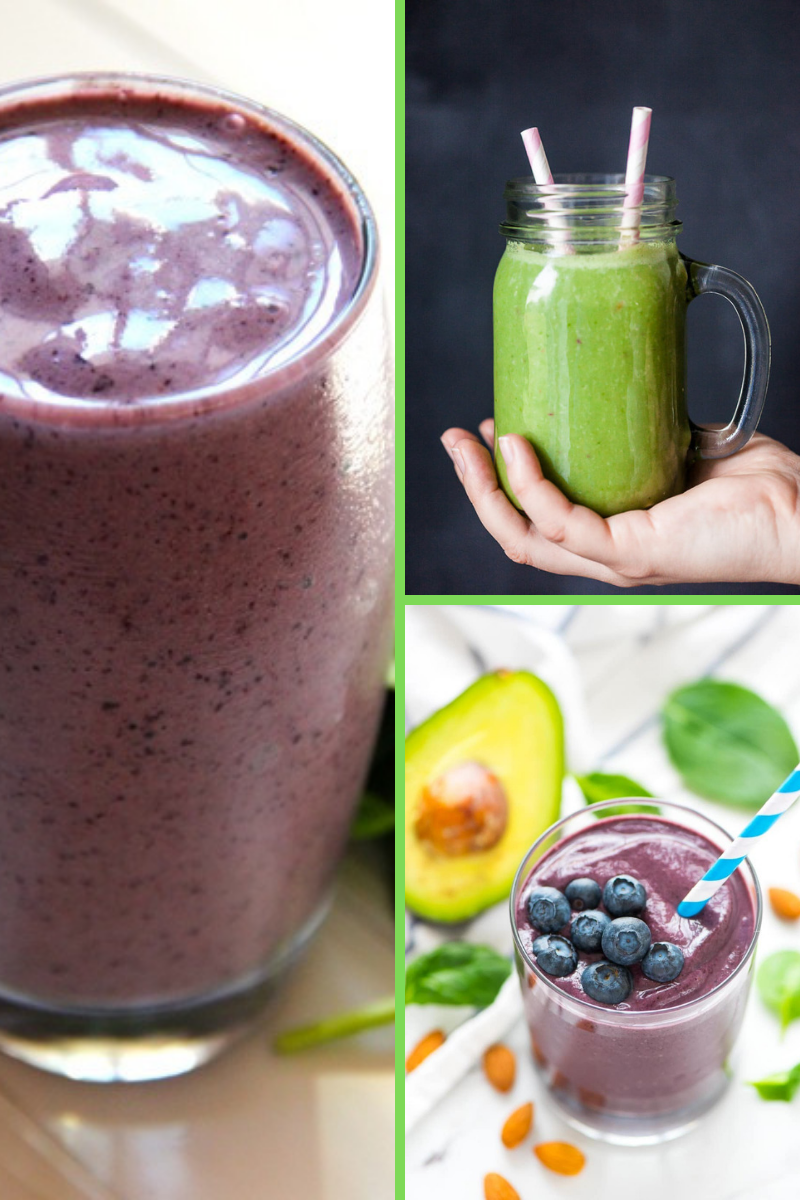 smoothies detox green smoothie and blueberry smoothies