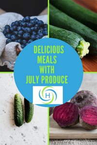 delicious meals with blueberries, zucchini, cucumbers and beets