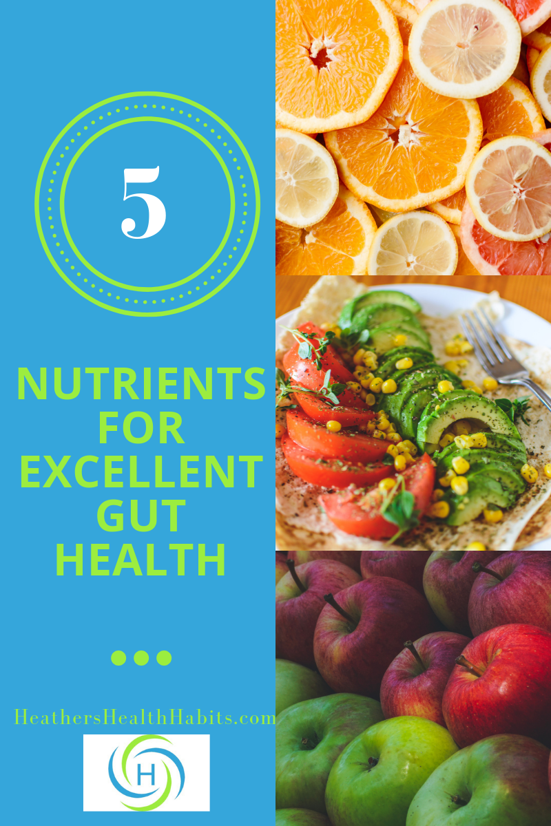 5 nutrients for excellent gut health