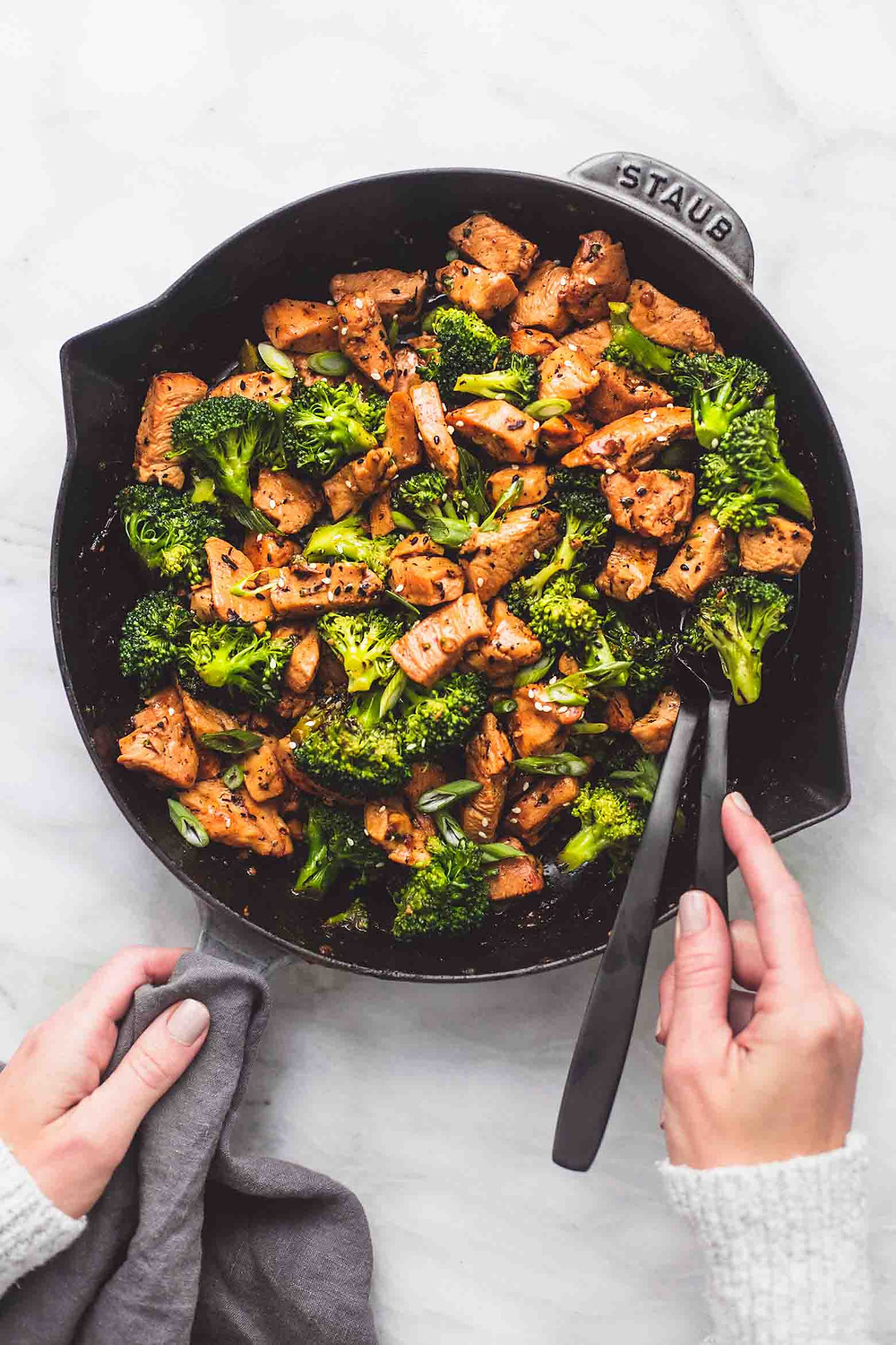 chicken and broccoli stir fry for dinner