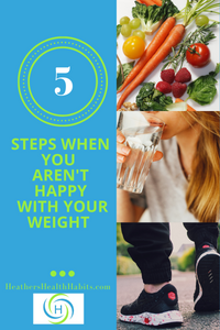 5 steps when you are not happy with your weight