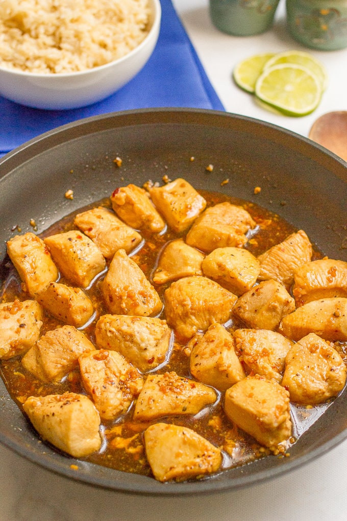 Garlic honey chicken helps keep the immune system strong and creates an ethusiastic outlook on life