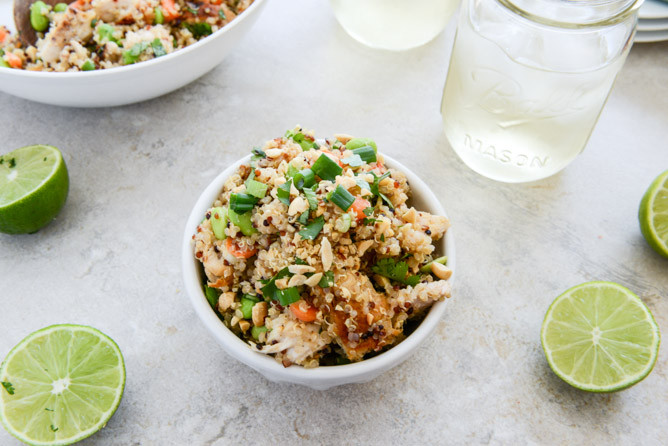 thai chicken quinoa bowl