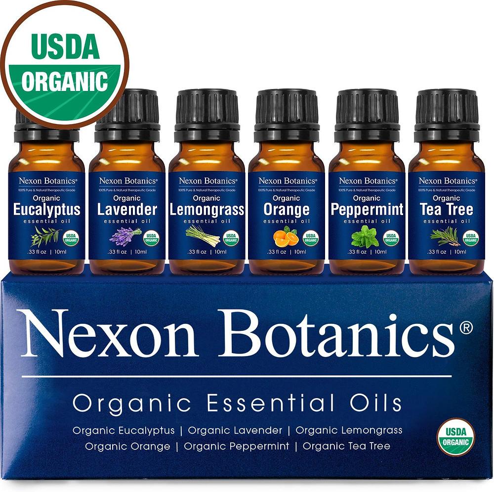 organic oils from Nexon Botanics available on amazon