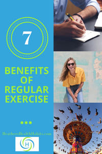 7 benefits of regular exercise such as having fun, learning and taking time off for fun