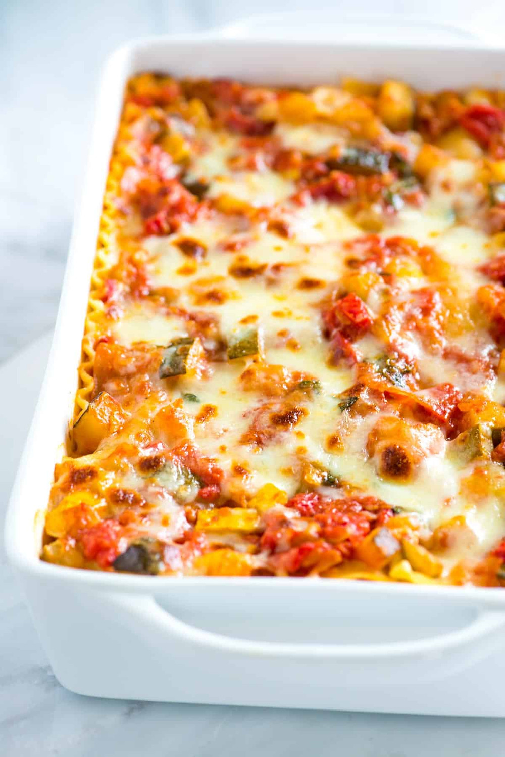 vegetable lasagna is an easy meal to make for the family without meat
