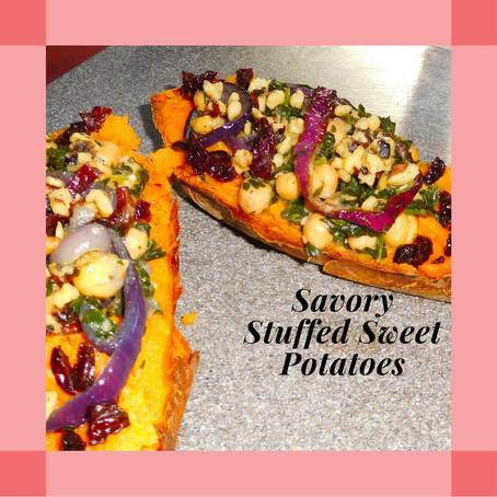 Recipe: Savory Stuffed Sweet Potato