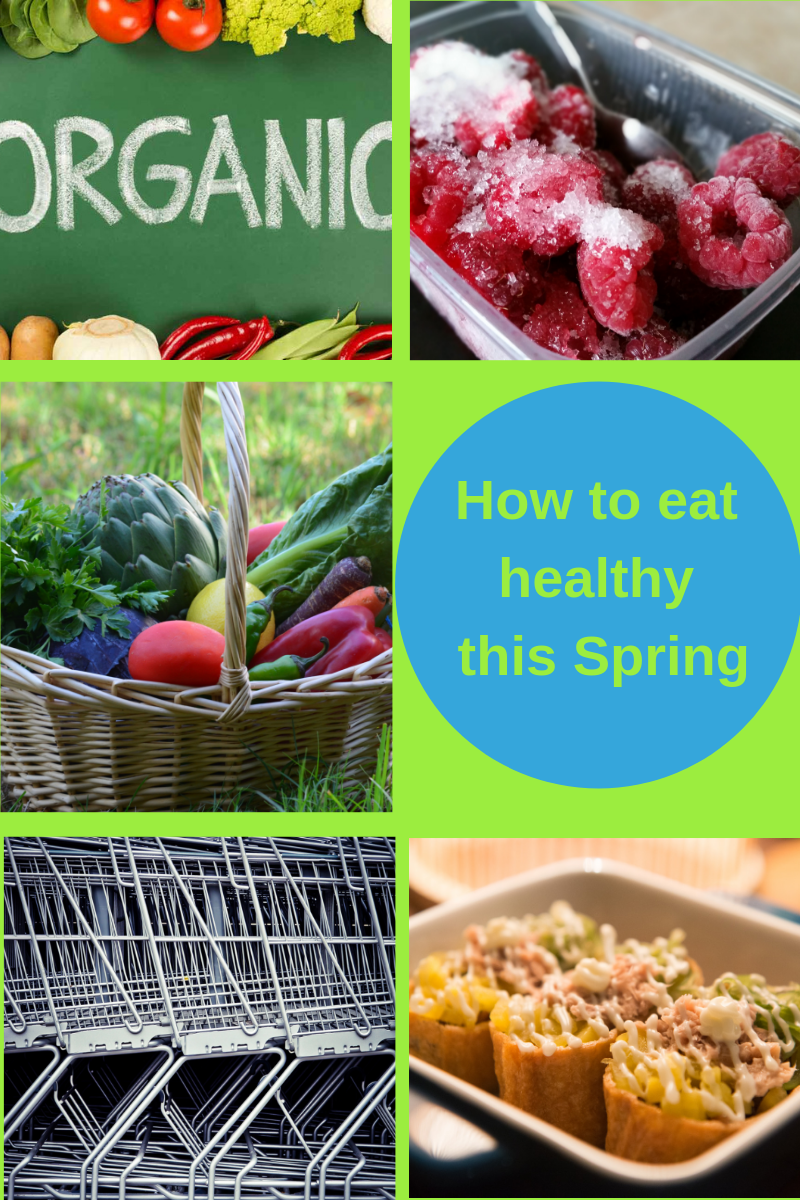 how to eat healthy this spring with vegetables, organic food and shopping in bulk