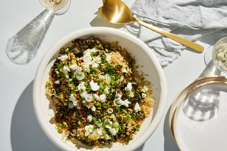 one pot kale and quinoa for dinner