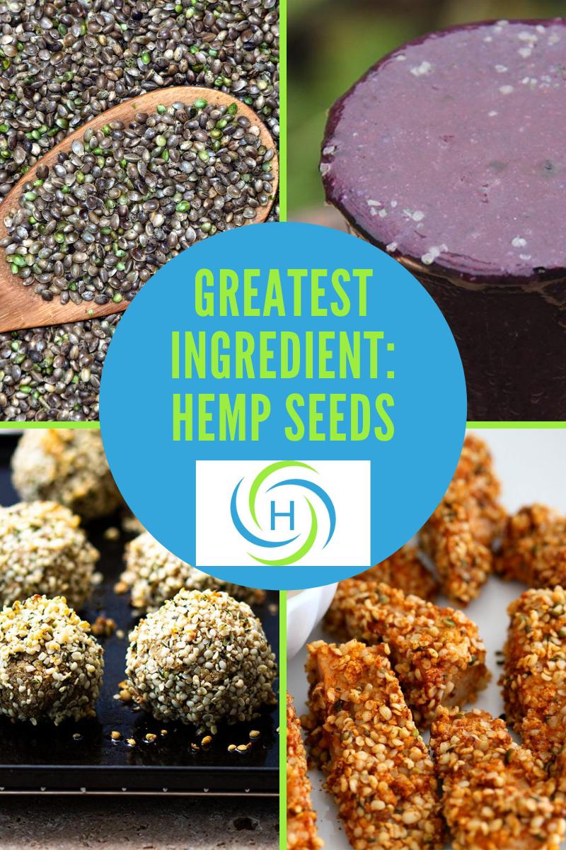 hemp seeds used in falafel, smoothies and jackfruit tenders