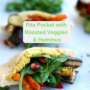 pita pockets stuffed with veggies is full of fiber for a healthy digestive system and promotes rational decision making