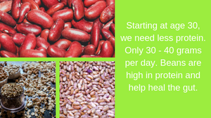 beans are high in protein which helps keep the gut healthy