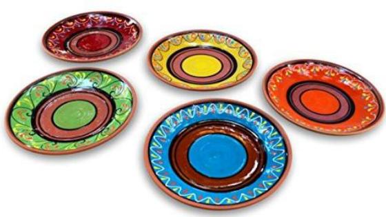 small terracotta dinner plates