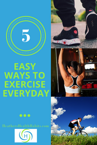 5 ways to exercise everyday with walking, gym equipment and biking