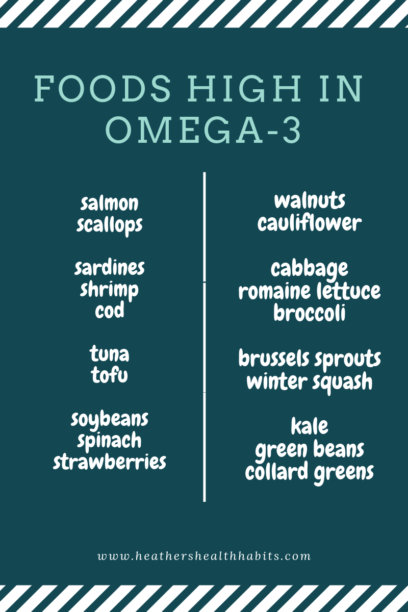 a list of foods high in omega-3