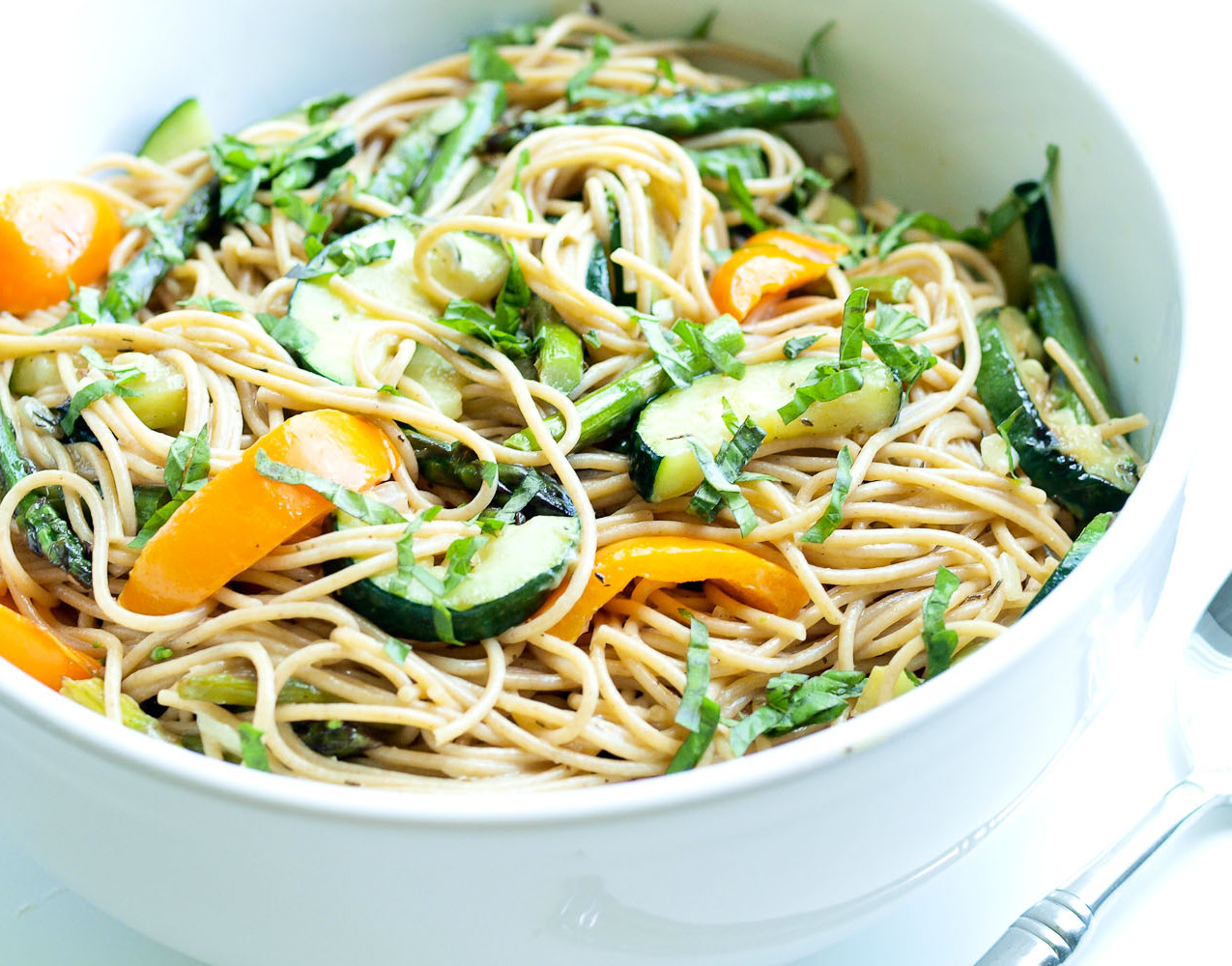 grilled vegetables and pasta
