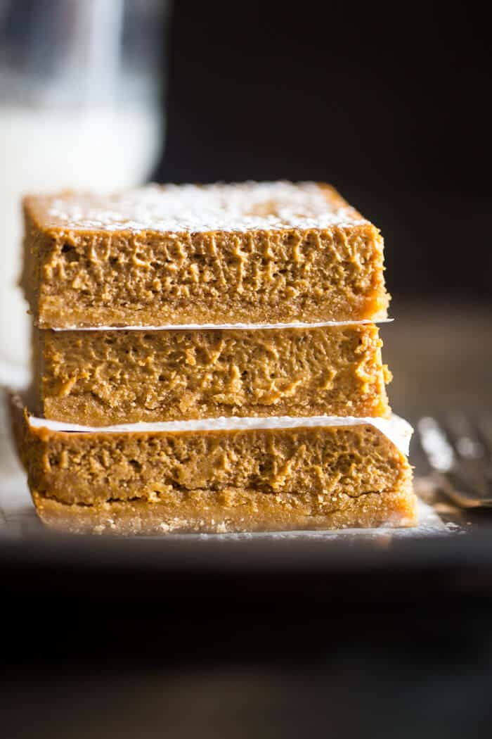 skinny pumpkin cheesecake bars gluten free