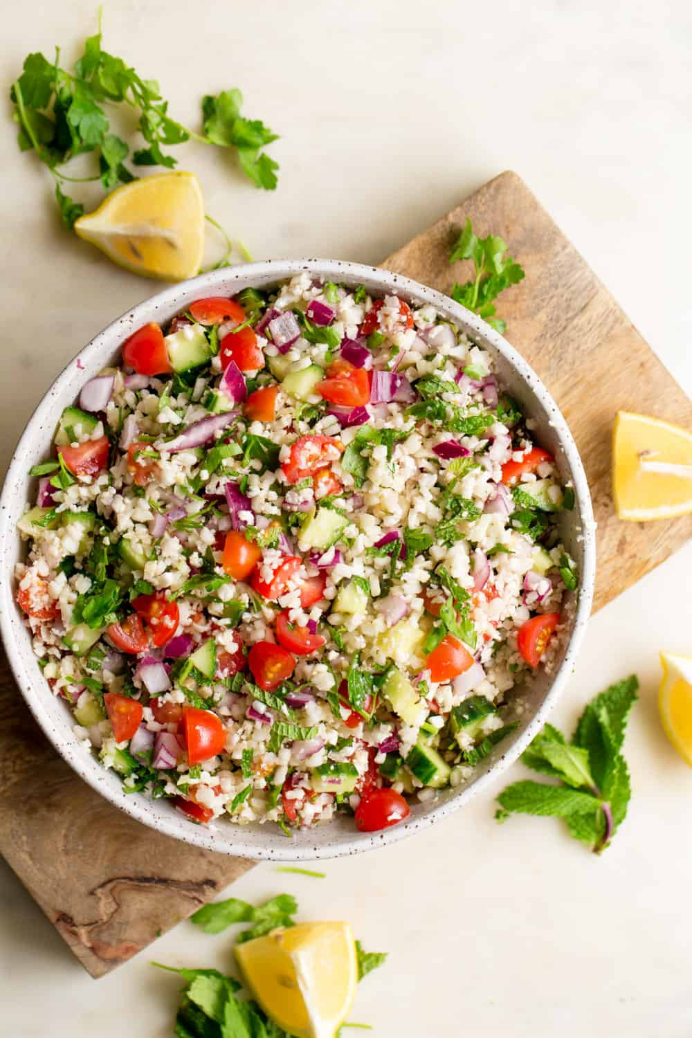 picture of cauliflower tabbouleh in a bowl